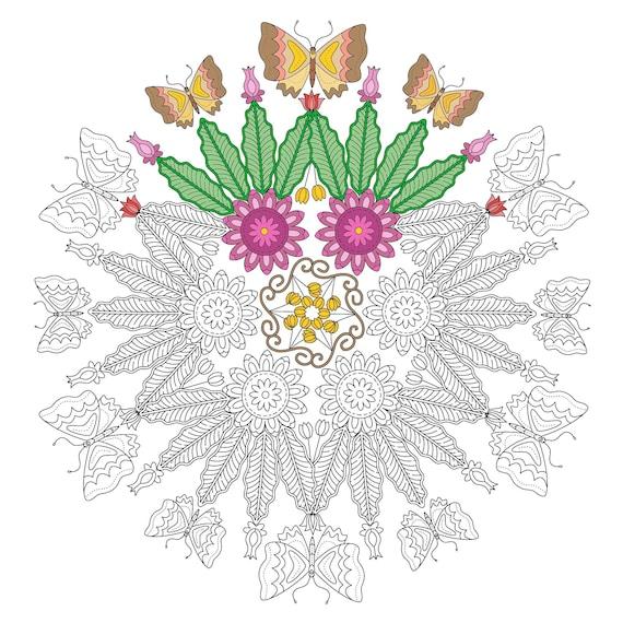 Instantánea descargar hermoso círculo de mariposas para | Etsy