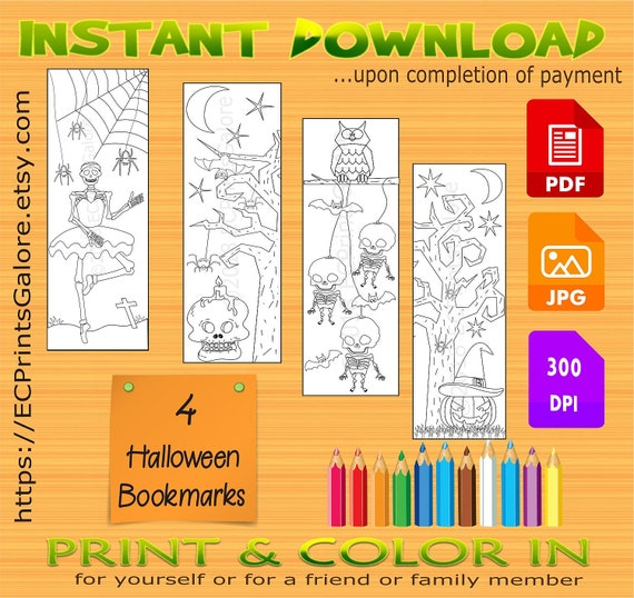 image regarding Free Printable Bookmarks Pdf named 🏆 Halloween bookmarks pdf Cost-free Printable Bookmarks. 2019