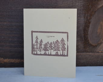 Tree stamped cards