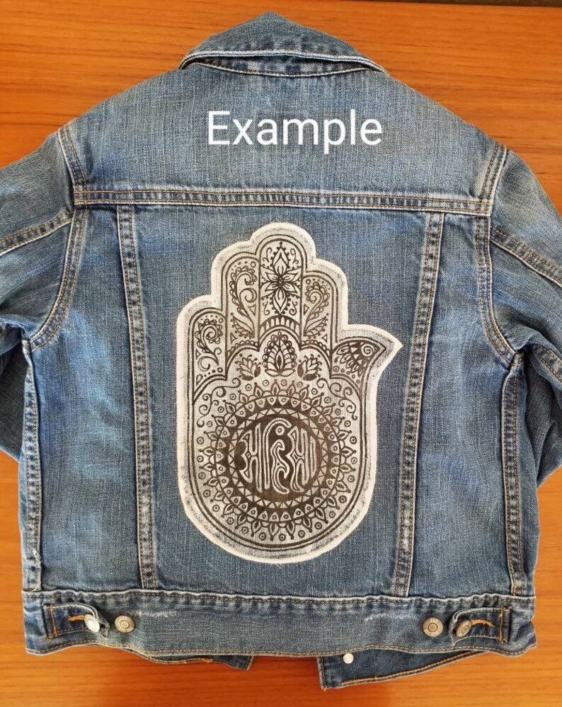 8d8a2b4ecf PATCH ONLY Henna Tattoo Inspired Ahimsa Hand Sew On Patch For