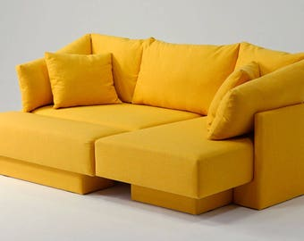 Mini Sofa, Modulsofa Für Kleine Räume. Day Bed, Gästebett, Longchair,  Erweiterbar