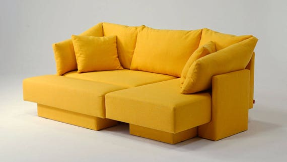 Peachy Mini Sofa Modular Sofa For Small Spaces Day Bed Guest Bed Lounger Expandable Theyellowbook Wood Chair Design Ideas Theyellowbookinfo