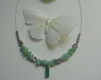 Aventurine necklace green natural stones