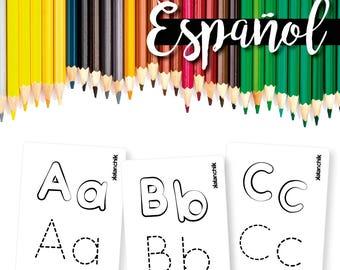 ABC Spanish  Alphabet Flashcards