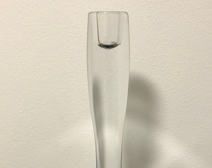 Timo Sarpaneva 'Marcel' Crystal Glass Candleholder - Finnish Mid-Century Modern Vintage Glass Design From Iittala, Finland