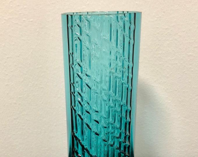 Nanny Still Petroleum Blue 'Flindari' Drinking Glass - Finnish Mid-Century Modern Vintage Glass Design From Riihimäen Lasi, Finland