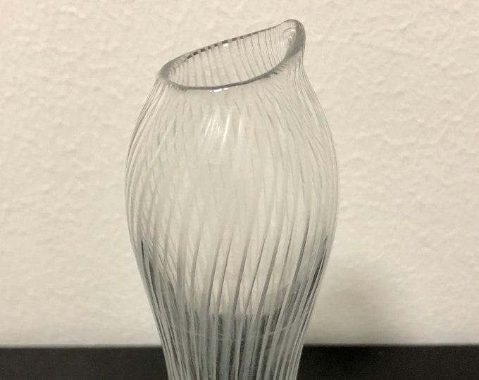 Tapio Wirkkala 'Varsanjalka' (Colt Foot) 3215 Vase - Finnish Mid-Century Modern Vintage Design Glass from Iittala, Finland