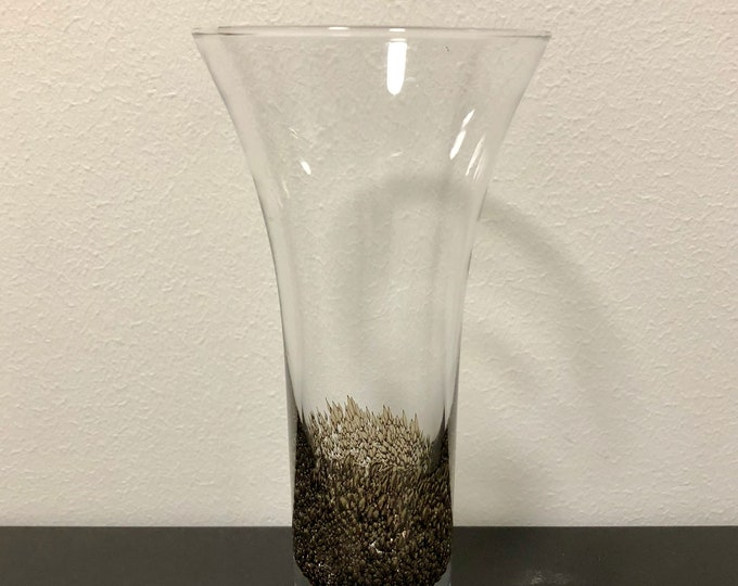 Björn Weckström 'Kanerva' (Heather) Art Vase - Finnish Mid-Century Modern Vintage Art Glass Design From Nuutajärvi, Finland