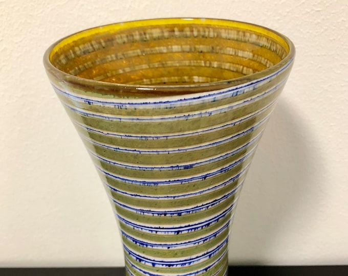 Oiva Toikka Pro Arte 'Ranta' (Shore) 863-020-91 Vase  - Finnish Mid-Century Modern Vintage Glass Design From Nuutajärvi, Finland