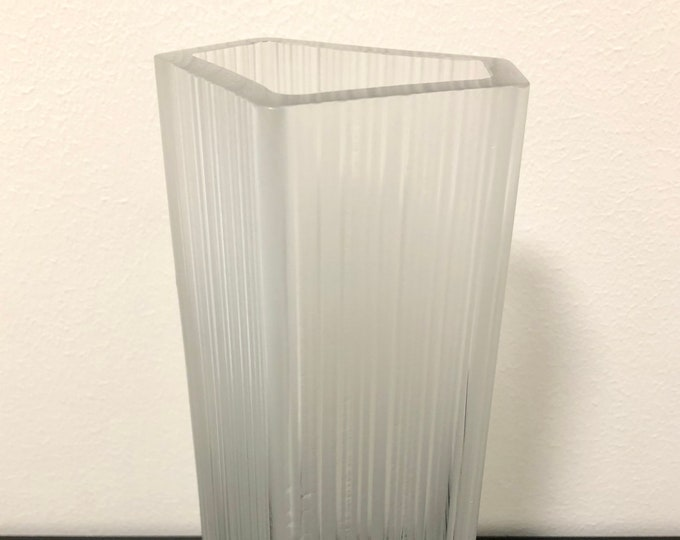 Tapio Wirkkala 3504 Dimmed Crystal Glass Vase - Finnish Vintage Design Glass from Iittala, Finland