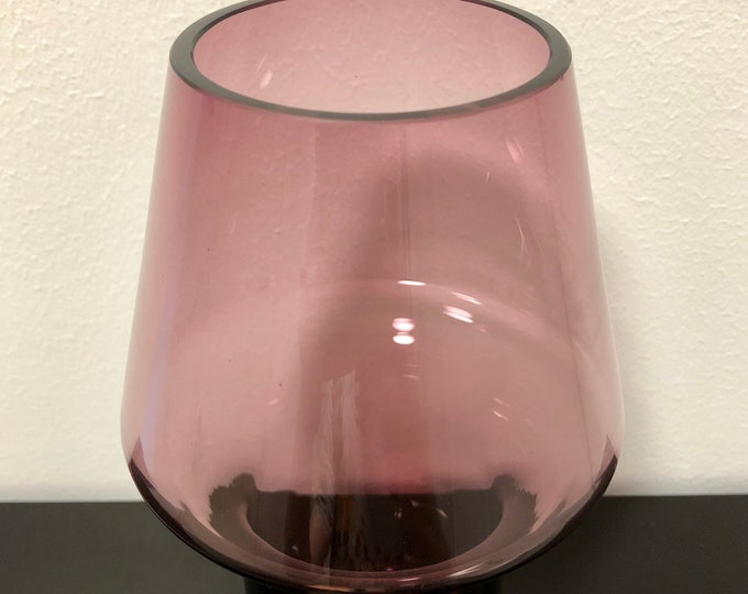 Aimo Okkolin 'Stromboli 1436' Violet Glass Vase - Finnish Vintage Glass Design from Riihimäen Lasi, Finland