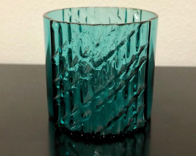 Nanny Still Petroleum Blue 'Flindari' Liqueur Glass - Finnish Mid-Century Modern Vintage Glass Design From Riihimäen Lasi, Finland