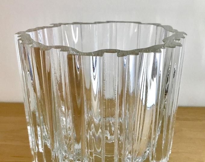 Tapio Wirkkala 2571 'Arcadia' Crystal Vase - Finnish Vintage Design Glass from Iittala, Finland