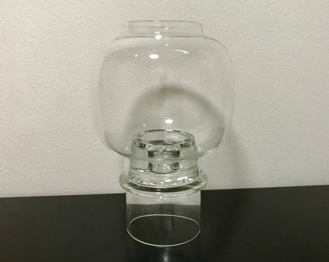 Heikki Orvola Two Piece 'Flicker' Table Lantern - Finnish Vintage Design Glass from Nuutajärvi, Finland