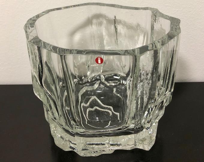 Tapio Wirkkala 'Rauma-Repola' Art Crystal Vase - Finnish Vintage Glass Design from Iittala, Finland