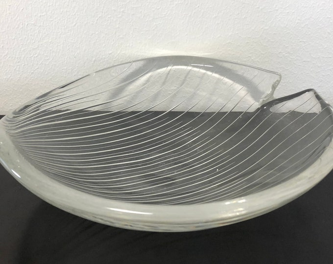 Tapio Wirkkala Line Cut 3343 Art Crystal Bowl - Finnish Mid-Century Modern Vintage Design Glass from Iittala, Finland
