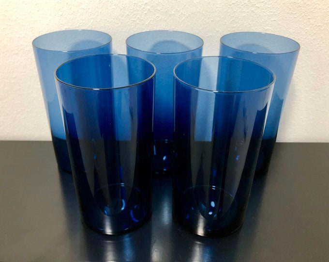Timo Sarpaneva i-114 Glasses (set of 5 glasses) - Finnish Mid-Century Modern Vintage Design From Iittala, Finland
