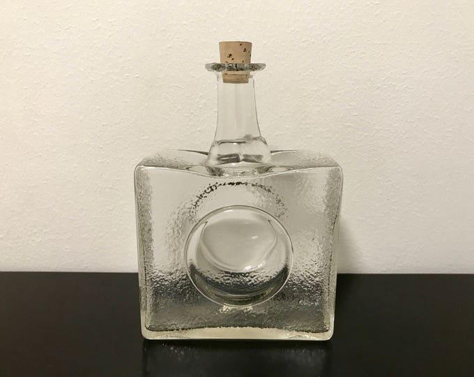 Tapio Wirkkala 2529 'Mini Bottle' Carafe - Finnish Vintage Glass Design From Iittala, Finland