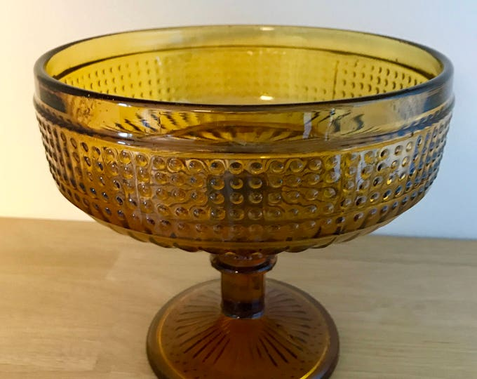 Erkkitapio Siiroinen Amber Brown 'Baroque' Serving Bowl - Finnish Vintage Design From Riihimäen Lasi, Finland