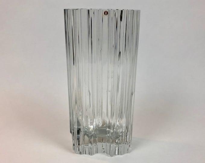 Tapio Wirkkala 3570 'Alpina' Crystal Vase - Finnish Mid-Century Modern Vintage Glass Design From Iittala, Finland
