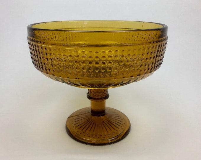 Erkkitapio Siiroinen Amber Brown 'Barokki' (Baroque) Serving Bowl - Finnish Mid-Century Modern Vintage Design From Riihimäen Lasi, Finland