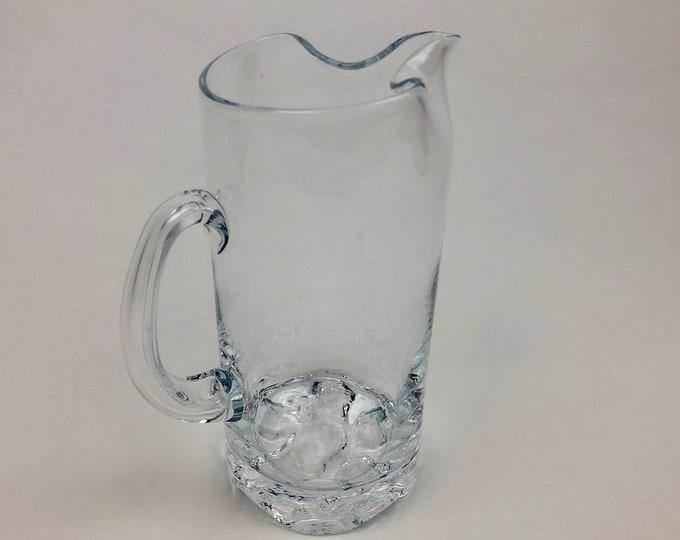 Tapio Wirkkala 'Gaissa' Pitcher - Finnish Mid-Century Modern Vintage Glass Design From Iittala, Finland
