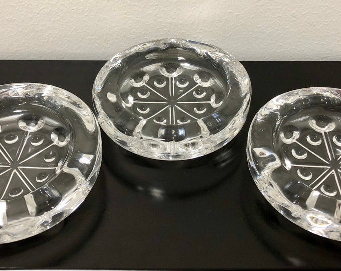 Nanny Still 'Lumitähti' (Snow Star) 8653 Candleholder (Set of 3) - Finnish Mid-Century Modern Glass Design from Riihimäen lasi, Finland
