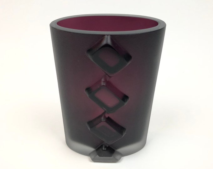 Tapio Wirkkala 3306 Dimmed Purple Art Vase - Finnish Mid-Century Modern Vintage Design Glass from Iittala, Finland