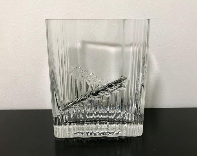 Tapio Wirkkala 'Sointu' (Chord) Crystal Vase - Finnish Vintage Glass Design From Iittala, Finland