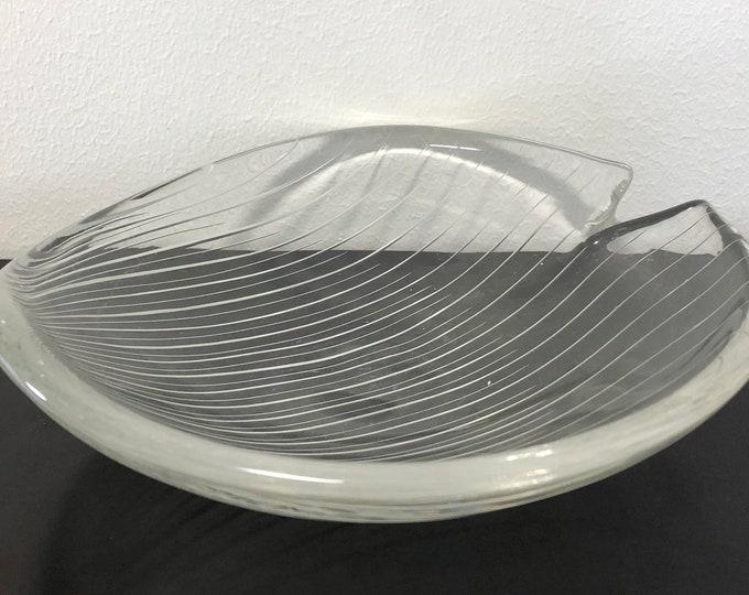 Tapio Wirkkala Line Cut 3343 Art Crystal Bowl - Finnish Mid-Century Modern Vintage Design Glass from Iittala, Finland