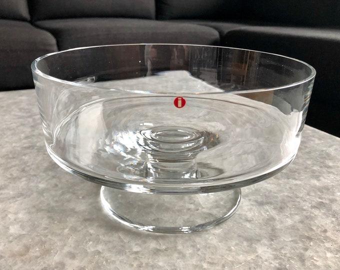 Tapio Wirkkala 2330 Bowl - Finnish Mid-Century Modern Vintage Art Glass Design From Iittala, Finland