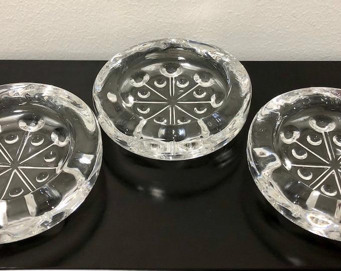Nanny Still 'Lumitähti' (Snow Star) 8653 Candleholder (Set of 3) - Finnish Mid-Century Modern Glass Design from Riihimäen lasi, Finland