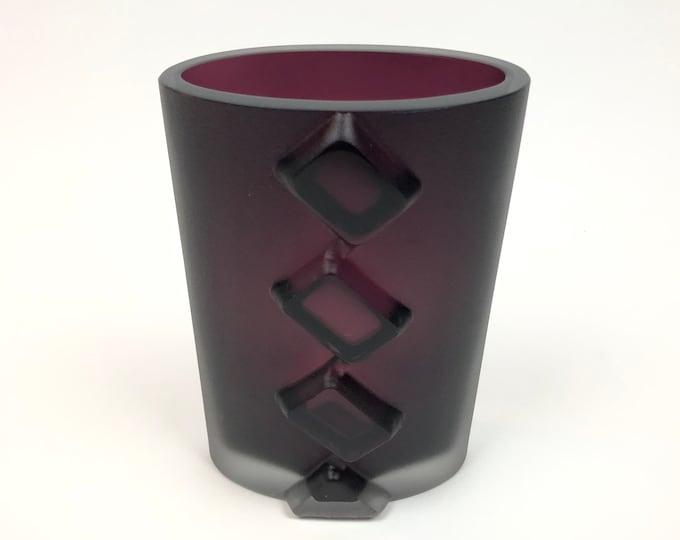 Tapio Wirkkala 3306 Dimmed Purple Art Vase - Finnish Mid-Century Modern Vintage Design Glass from Iittala, Finland