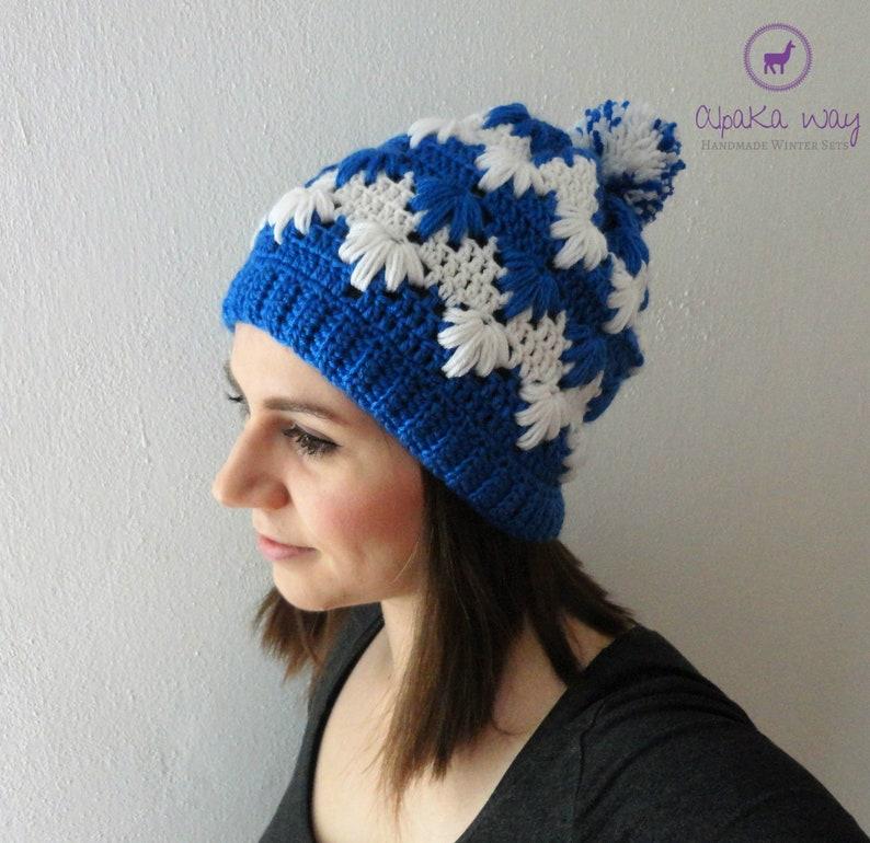343393be2ec Alpaca wool crochet beanie    Wool blend women hat    Women