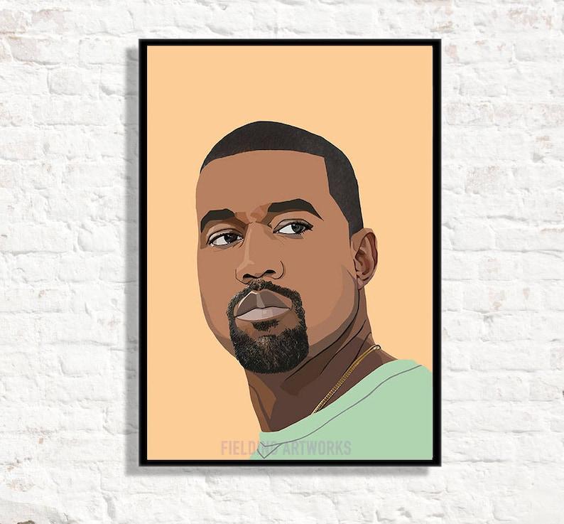 db3884ce9cc37 KANYE WEST inspired this poster, Kanye West print, Kanye West poster I feel  like Pablo poster, Gift for Kanye fan. Rap, Hip Hop, Arty prints