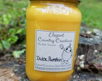 100% Natural Coconut Wax Wood Wick Hand Poured Scented Candles, glass container, long lasting, Mason jar, handmade, woodwick coconut candle