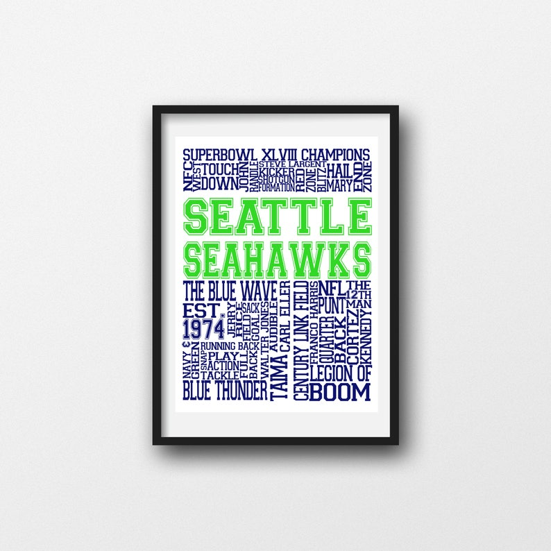 image regarding Seattle Seahawks Schedule Printable known as Seattle Seahawks Printable Wall Artwork