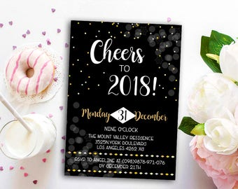 new years invitations new years party invitation new years eve invitation party invitation new year hello 2018 party invitation