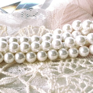 semi-pierced pearl jewelry creation grade AAA white natural pearl creative supply freshwater pearl,4mm-G1776 culture bead