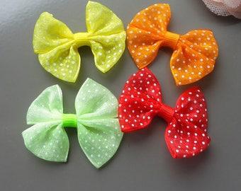 organza bar knot, polka dot fabric, applied knot, lot, primer, sewing