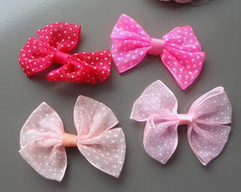 organza knots, bow tie, applied knot, applied, creation, sewing