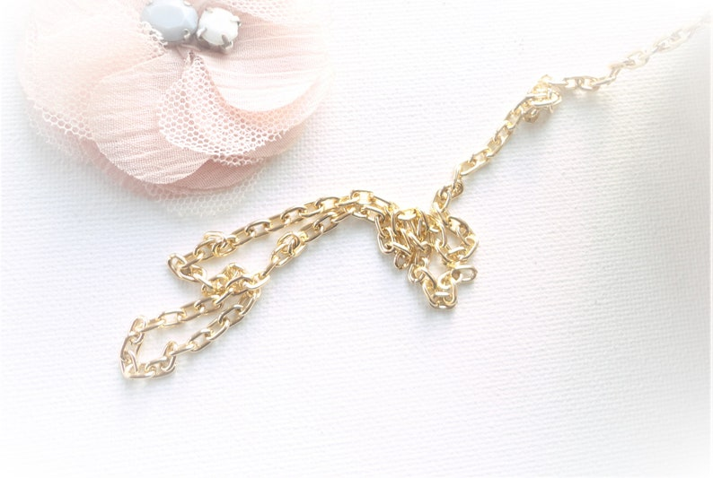 aluminum chain gold chain gold chain gold chain oval mesh stainless