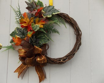 """Autumn Foliage Door Wreath 12"""" - 16"""" diameter (31 cm - 41cm)"""