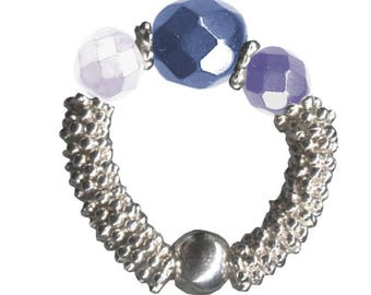 KIT rings Luxor Night blue & silver