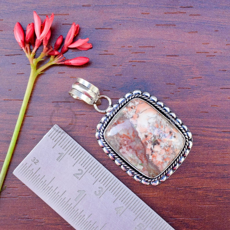 Handmade Pendant Fashion Jewelry,Natural Gemstone Pendant Jasper Pendant,Silver Plated Jewelry Silver Plated Pendant Jewellery