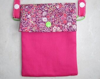 satchel / Messenger child or adult adjustable strap - liberty fabric