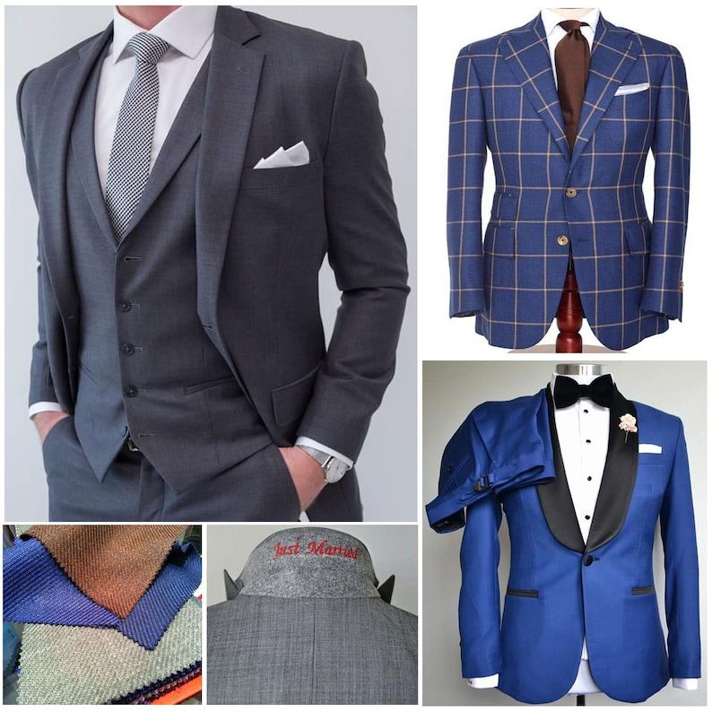 Custom Made to Measure Business Formal Wedding Men Bespoke image 0