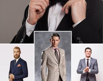 Men's Custom Made to Measure Suit Business Formal Wedding Men Bespoke Suit that Fits