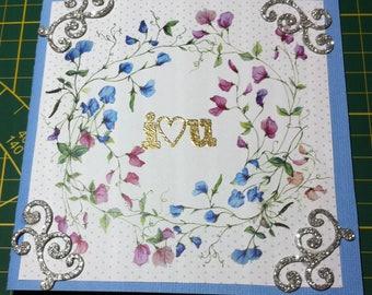 I hand made card love you