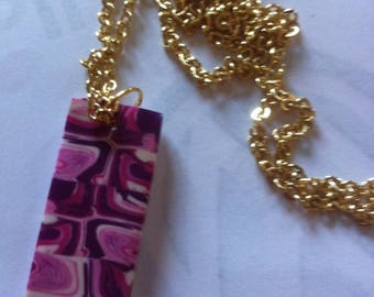 fashion necklace with Fimo pendant